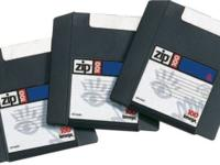 Zip 100 Disks, $2.50 each, and Zip 250 Disks, $4 each.