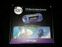 black and blue ion sports video camera shoots in H.D.