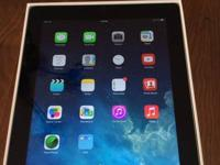 I am selling my iPad 4, Retina, 16GB Black,  it is in