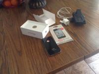 IPhone 4 16GB, with case, charger, and extra protector