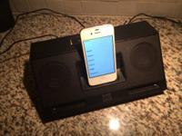 Selling a working iPhone 4 and Altec Speaker Dock.