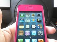 PINK IPHONE 4 VERIZON 32G WITH CHARGER THIS IS A CUSTOM