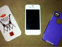 White iPhone 4 for sale. It is in EXCELLENT condition -
