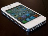 White iphone 4s sprint carrier. the iphone is in mint