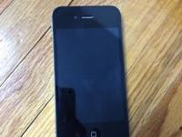 Offering a Black iPhone Fours, AT&T carrier. Phone is
