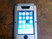 Sprint Iphone 4s 16gb black No cracks - no screen