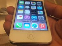 IPhone 4s white in great condition I'm using it on page