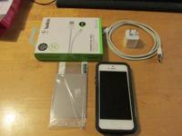 iPhone 5; comes with Apple charger, Belkin lightning