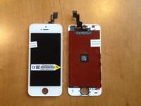 iPhone 5/5c/5S white oem replacement screen done for