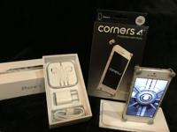 WHITE 16GB IPHONE 5 AT&T *** W CORNERS-4 IN SILVER MUST