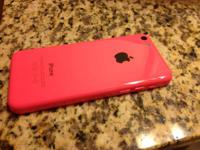 Pink and black. This iPhone 5C is created for Verizon,