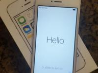 For sale: iPhone 5s 64GB Silver Unlocked Flawless In