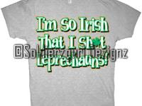 Distressed Irish dezign w/ clover (high def screen