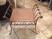 Type:Furniture Iron and metal vanity bench is heavy and