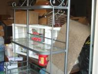 Wall mount plans. Large iron bakers rack with 3 glass