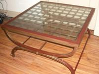 Description I have a solid iron square table in good
