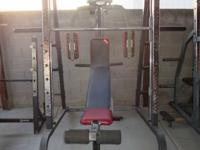 Iron Grip smith machine self spotting, 6 peg plate