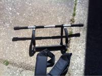 Iron gym upper body workout system with ab straps. $15