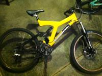 "26"" full suspension iron horse mountain bike. 8"" disc"