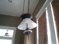 This lamp is often referred to as a IRON HORSE hanging