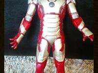 3 Iron Man toys: Mask with Velcro straps - has everyday