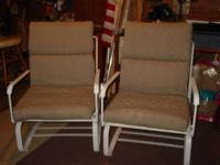 Patio chairs & End Tables Set includes: 2 -Iron rocker