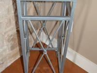 Iron Pedestal with marble top