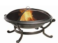 Enjoy the serenity of a nighttime campfire from the