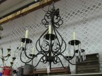 Reduced price. Excellent electric chandelier with eight
