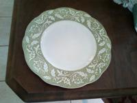 Ironstone plate,Renaissance,made in England. Color is