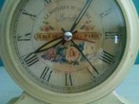 Beautiful alarm clock. Replica of Antique. Works