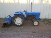 ISEKI TS1610 TRACTOR WITH A TILLER ON THE BACK ,DIESEL