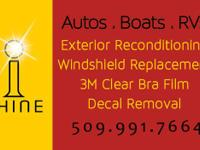 We offer specialty services to autos, watercrafts, and