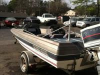 1986 Bayliner with a Force Engine and trolling motor.