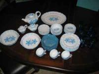 47 PIECE ITALIAN CHINA. 6 DINNER, SALAD, COFFEE CUPS,