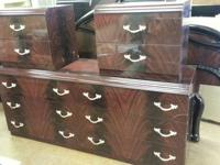 Italian Dark Cherry 5 Piece Bedroom Set 6 Drawer