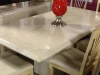 Lovely 7 PC Italian Laquer eating table Table and 6
