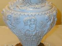 Early Italian Majolica Lamp for sale, no chips or