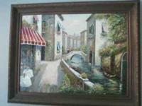 Beautiful oil painting, framed and in great cond like