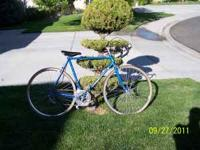 25 inch wheels, authentic Edoardo Bianchi touring bike,