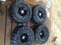 ITP SS ATV Wheels and Baja Cross X/D Tires ~ Front 26 X