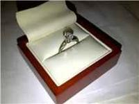 .85 TWT SI 13, COLOR G ROUND DIAMOND SOLITAIRE RING,