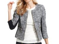 A chic, sophisticated jacket modernizes your look in an