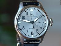 IWC Big Pilot White Gold Silver Dial Boutique Special
