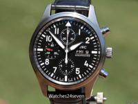 IWC Classic Pilot Chronograph Automatic Steel Black