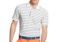 Stay cool on the links with this striped golf polo