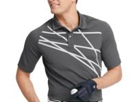 An abstract print puts a stylish spin on this Izod