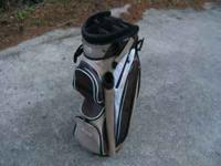 A used Izzo Element cart golf bag. In very good