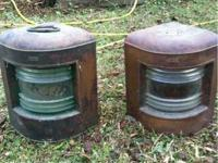 Pair of J.H.Peters & Bev Hamburg 11 Ship Lamps.  Made