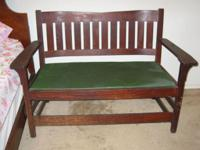 It is JUSTAVE STICKLEY BENCH 1927 NOT SIGNED . GOOD